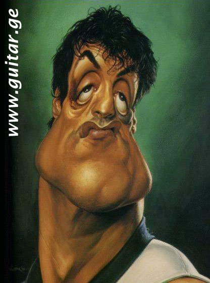 GUITAR.GE humour Sylvester Stallone caricature cartoon humor funny ...
